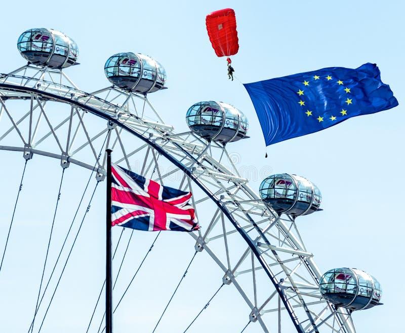 Brexitconcept in Londen royalty-vrije stock afbeelding