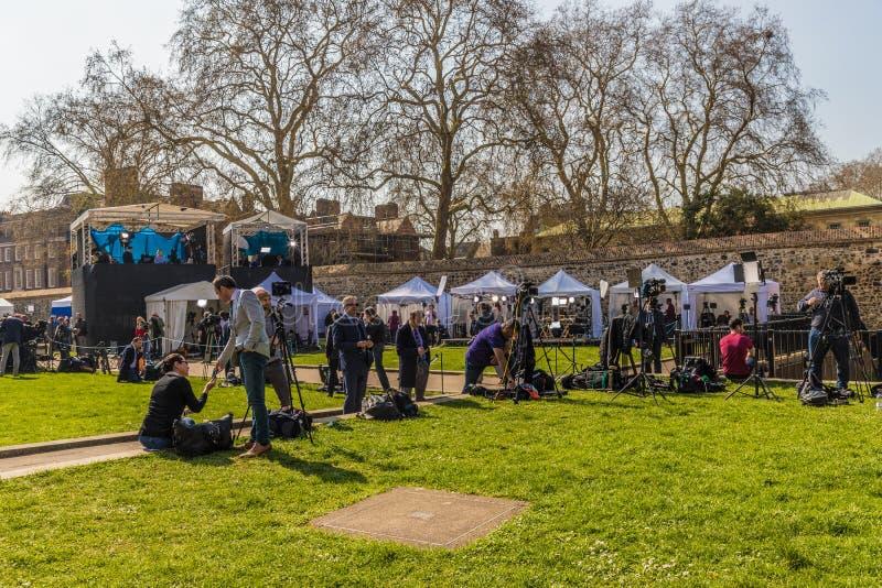 Brexitprotest in het parlement vierkant Londen royalty-vrije stock afbeeldingen