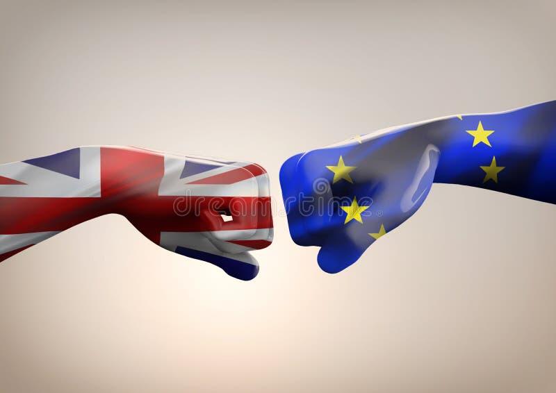 Brexitsymbool van het Referendum vector illustratie