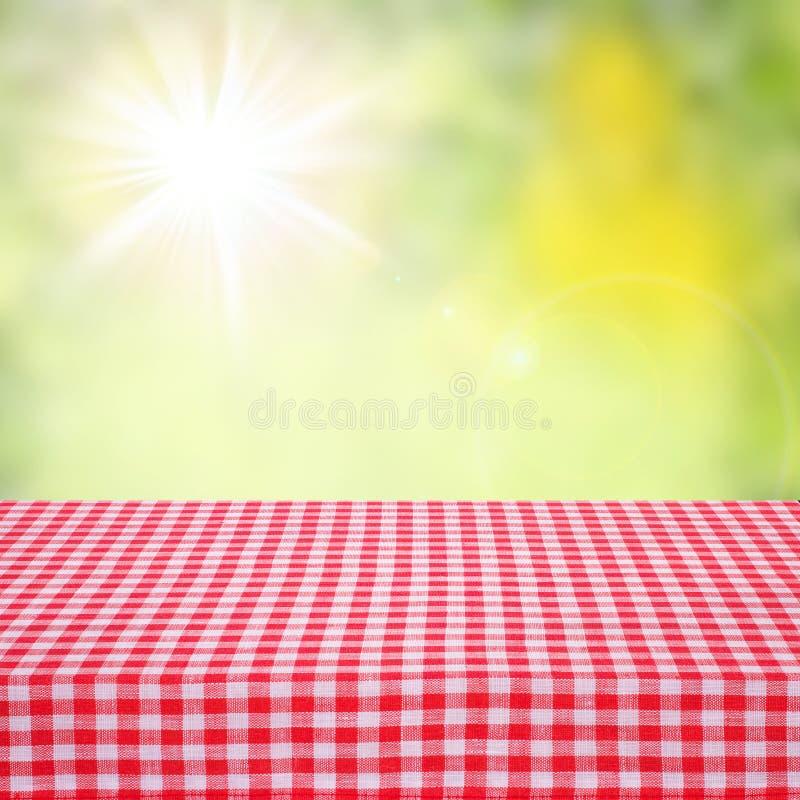 Brezentowa tekstura lub tło na stole Jesień krajobraz zdjęcia stock
