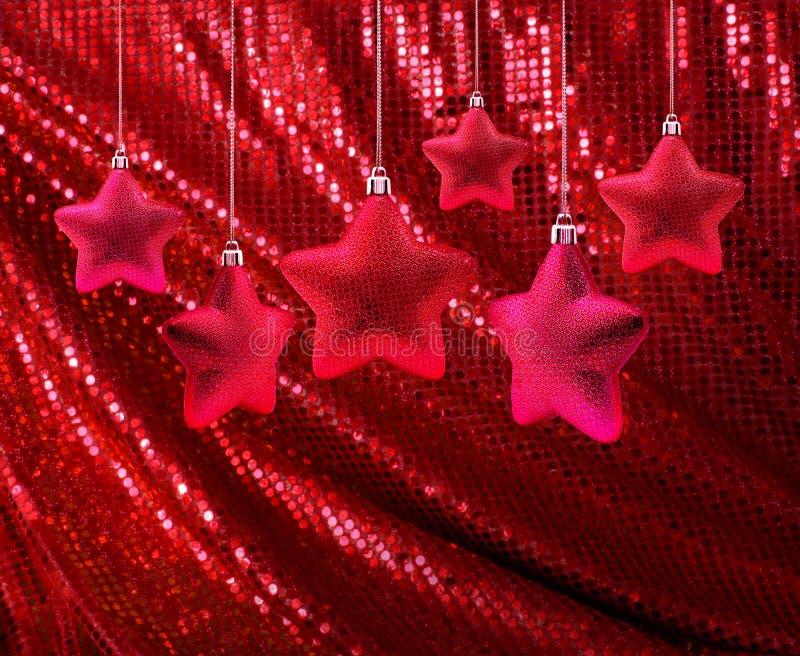 brezentowe błyskotliwości czerwieni gwiazdy zdjęcie stock