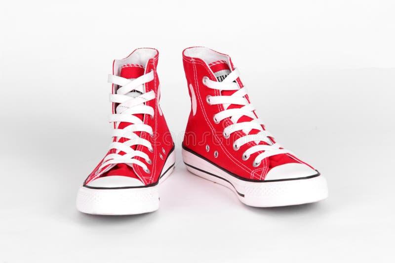brezentowi czerwoni buty zdjęcie royalty free