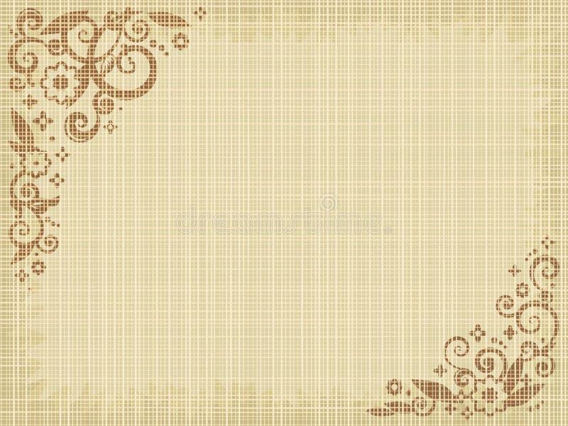 brezentowy odcisk kwiecisty tło royalty ilustracja