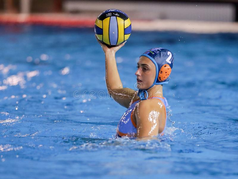 Waterpolo EuroLeague Women Championship Exile SG vs Dunaujvaros royalty free stock photo