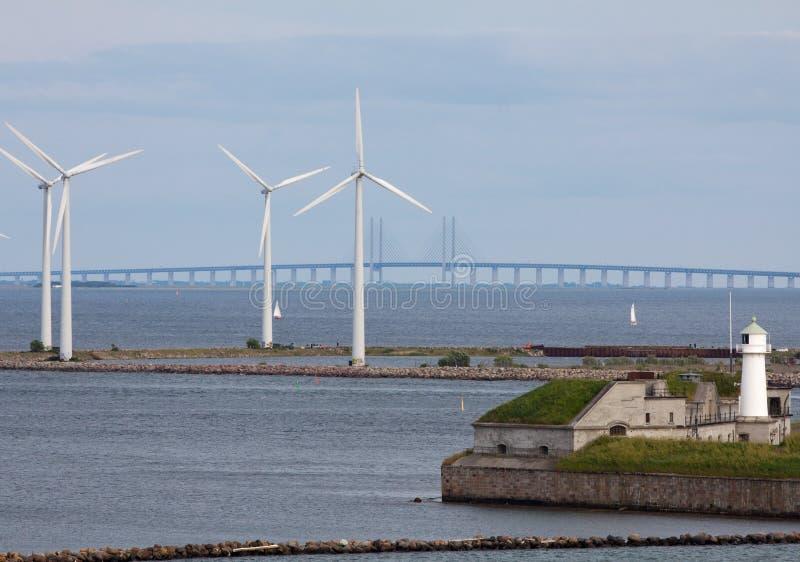bri generatorów horyzontalny turbina wiatr fotografia royalty free