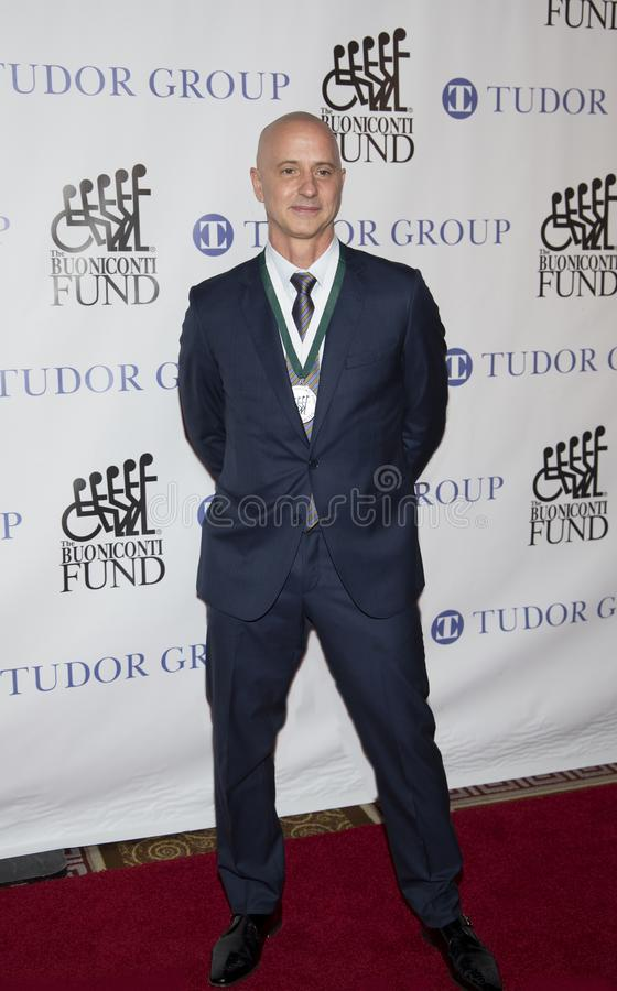 Brian Boitano. Olympic and World Championship gold medalist in figure skating, attends the 33rd Annual Great Sports Legends Dinner, at the New York Hilton royalty free stock image