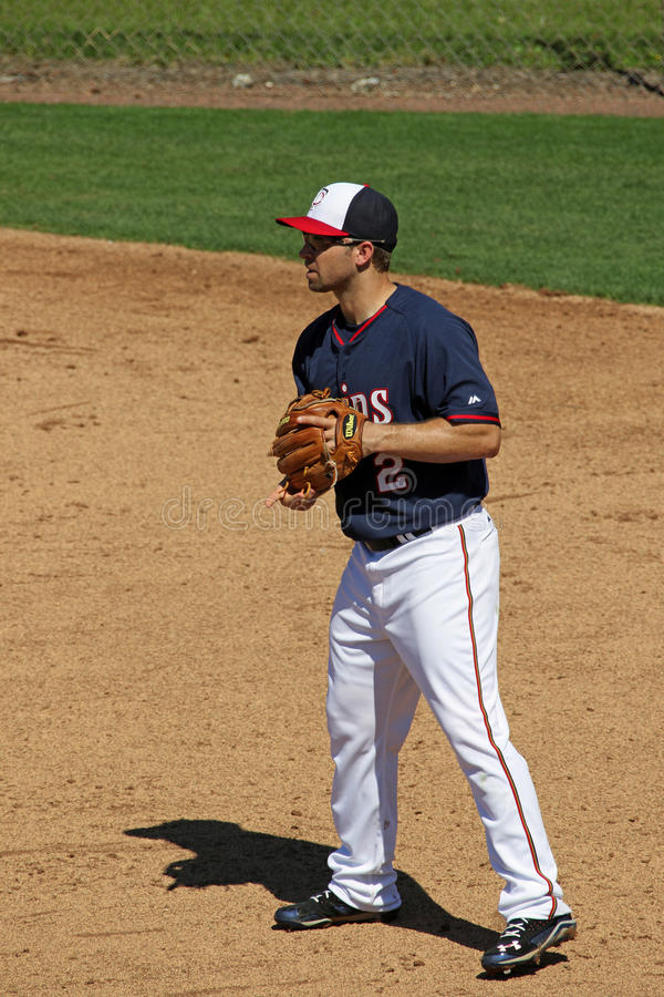Brian Dozier Minnesota Twins Second-Honkman stock fotografie