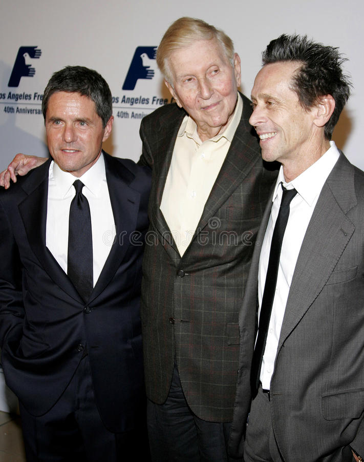 Brian Grazer, Brad Grey i Sumner Redstone, zdjęcia stock