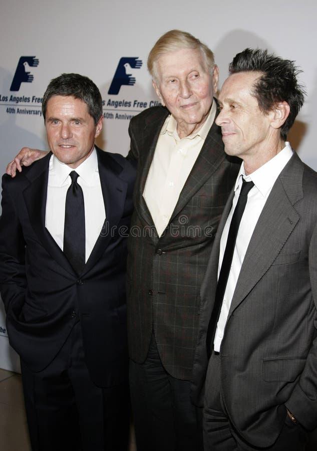 Brian Grazer, Brad Grey i Sumner Redstone, fotografia royalty free