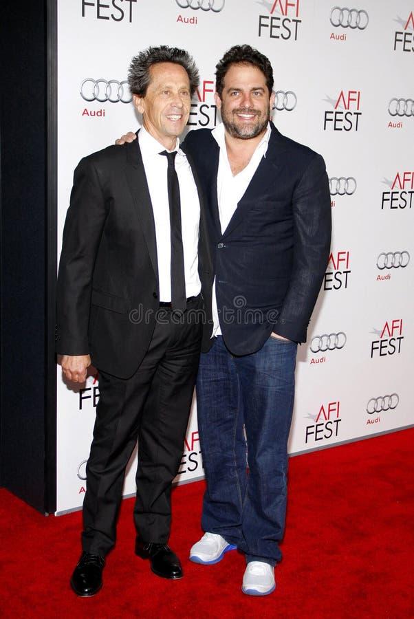 Brian Grazer i Brett Ratner zdjęcie stock