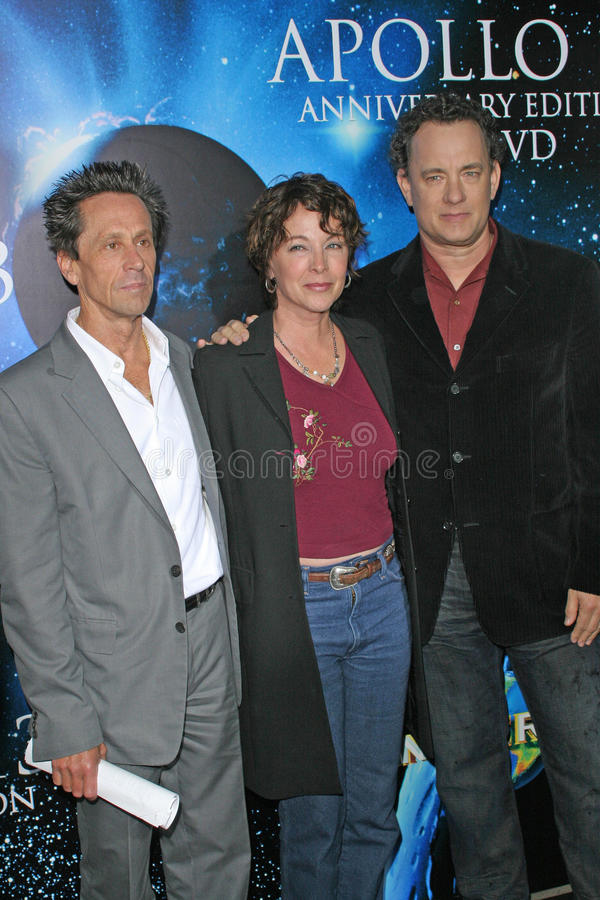 Brian Grazer, Kathleen Quinlan, Tom Hanks obraz stock