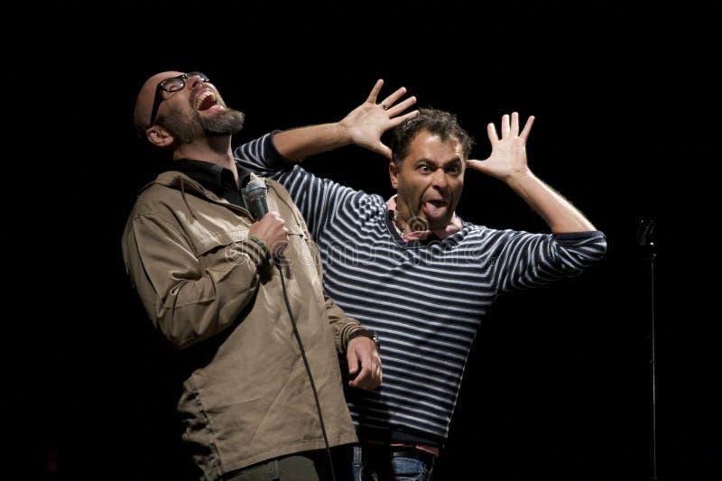 Brian Mørk & Omar Marzouk fotografie stock