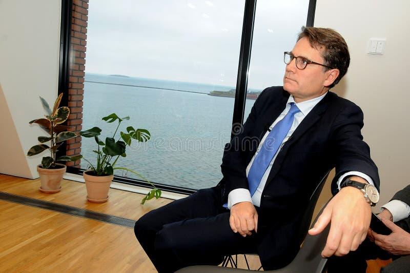 BRIAN MIKKELSEN_MINISTER FÜR GESCHÄFT UND HANDEL stockfoto