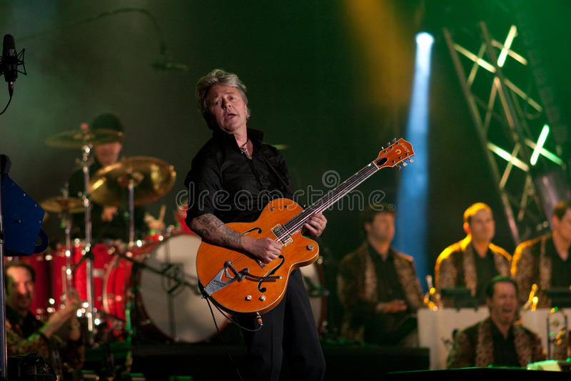 Download Brian Setzer Orchestra Opens Montreal Jazz Festiva Editorial Stock Image - Image of guitar, singer: 14897914