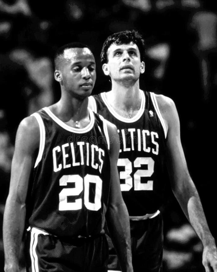 Brian Shaw e Kevin McHale, Boston Celtics fotografia stock