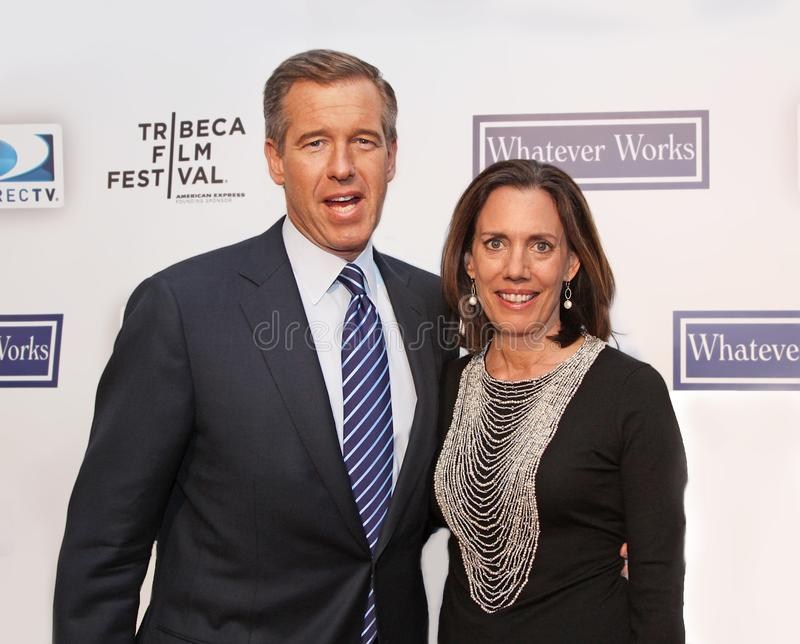Brian Williams e Jane Stoddard Williams fotografia stock libera da diritti