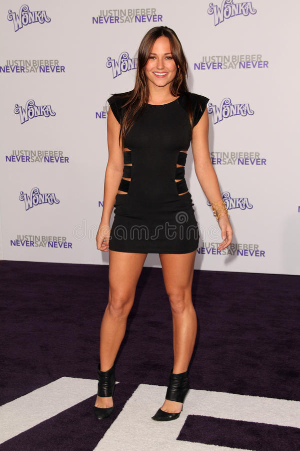 Briana Evigan, Justin Bieber photos stock