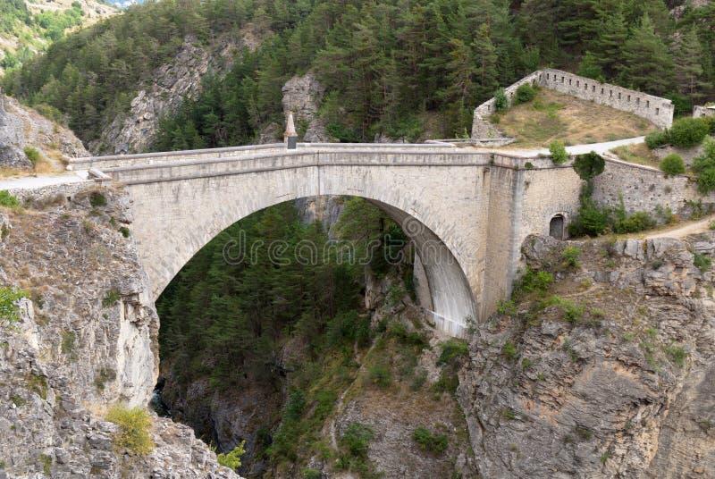 Briancon,法国。 Pont d'Asfeld。 免版税图库摄影