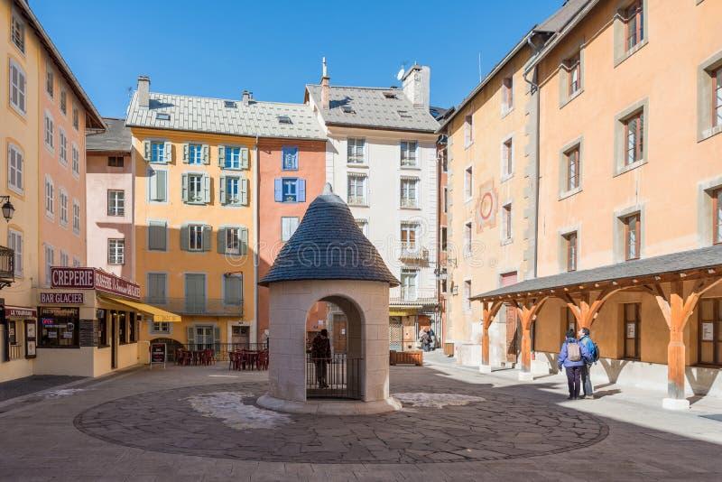 Briancon en Altos Alpes, Francia foto de archivo libre de regalías