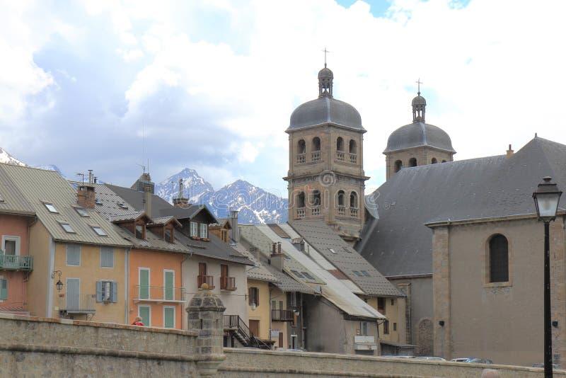 Briancon, Uczelniany kościół Nicolas, Francja obrazy royalty free