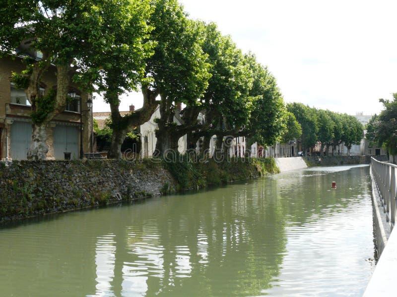 Briarekanaal in Montargis royalty-vrije stock afbeeldingen