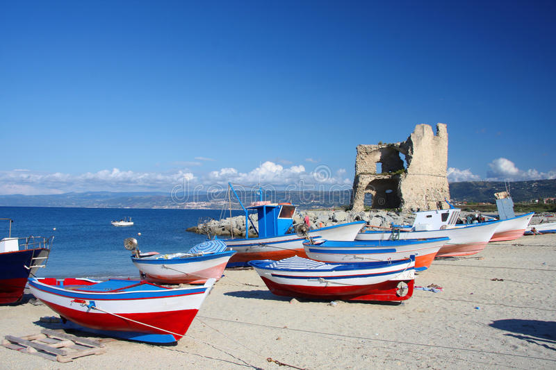 Briatico, harbor in Calabria, Italy stock images