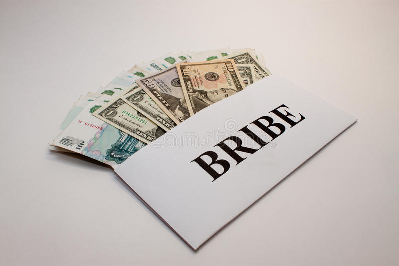 Bribe royalty free stock photos