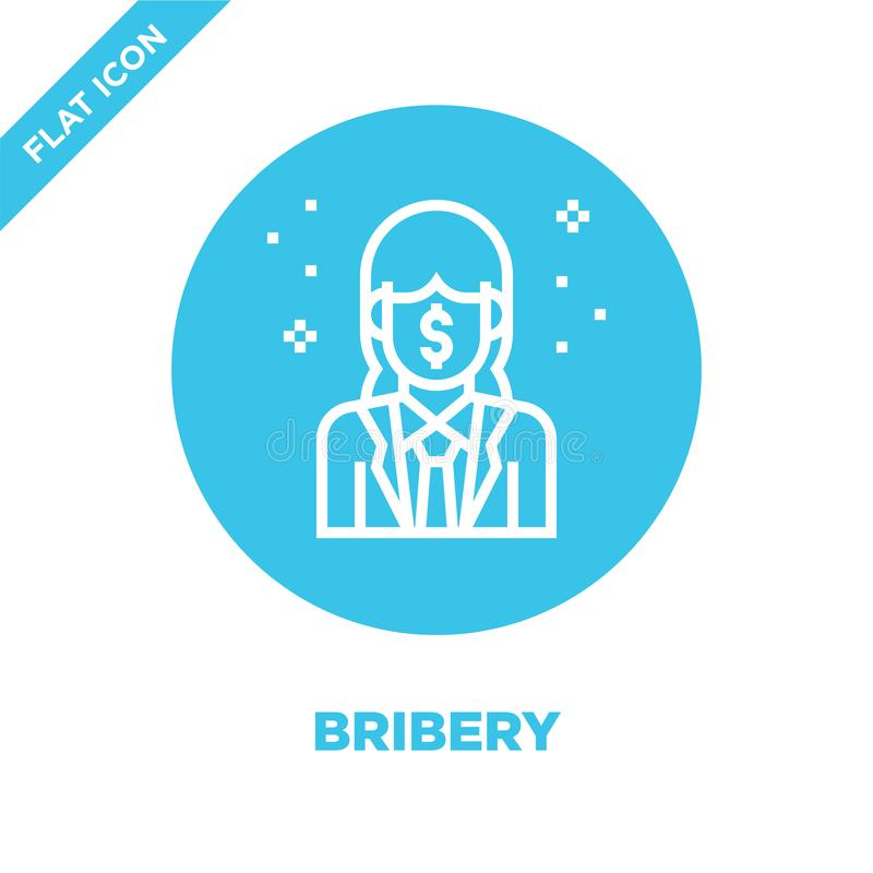 Bribery icon vector from corruption elements collection. Thin line bribery outline icon vector  illustration. Linear symbol for. Use on web and mobile apps vector illustration