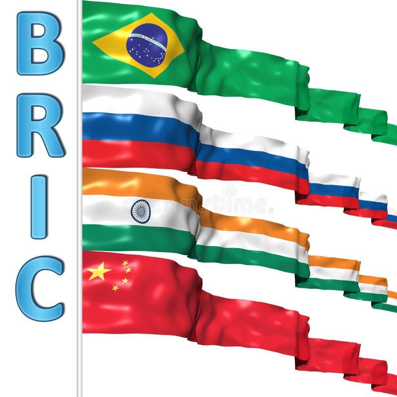 bric länder stock illustrationer