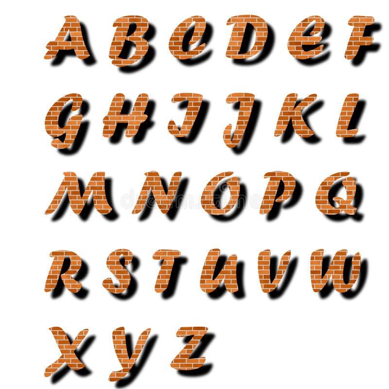 Brick Alphabet Text Stock Photos