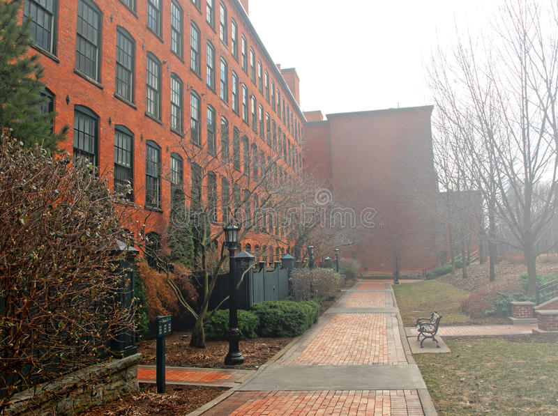 Download Brick Apartment Building On Foggy Day Stock Photo - Image: 31292556