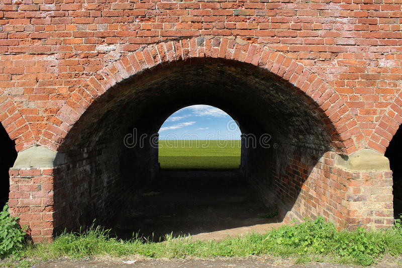 Brick Arch Tunnel Stock Photography