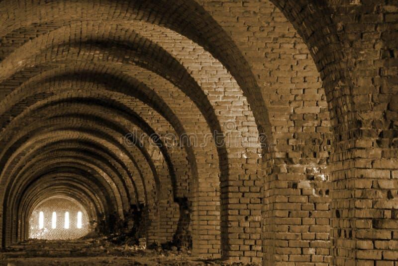 Brick arches stock photo