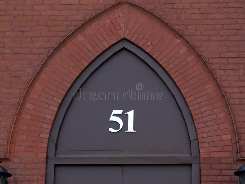 Brick Archway Number 51 Stock Image