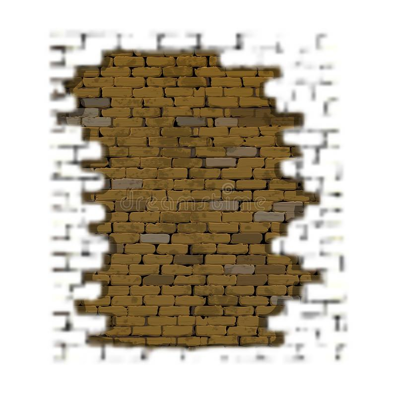 Brick background with blurred foreground. Frame of a brick background with a blurred foreground and an old brick wall vector illustration