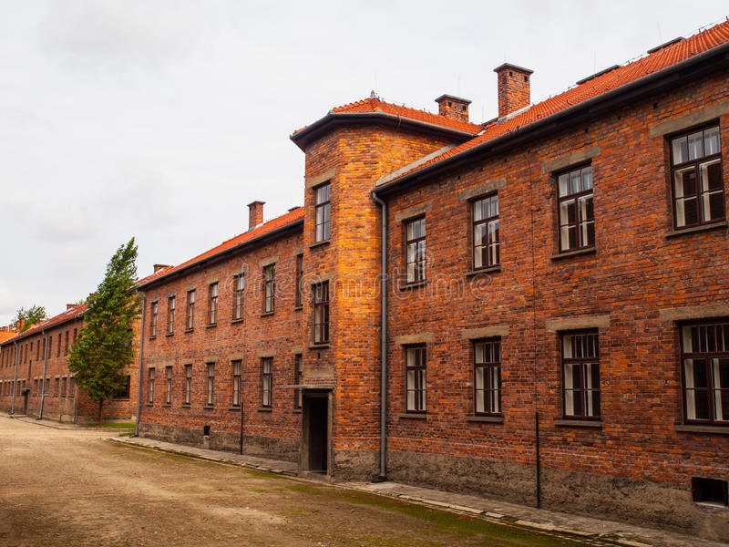 Brick barracks stock photography