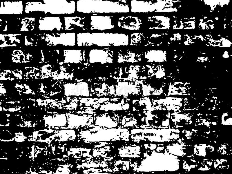 Brick Black and White Illustration stock photography