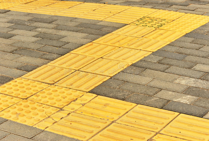 Brick blind sidewalks royalty free stock images