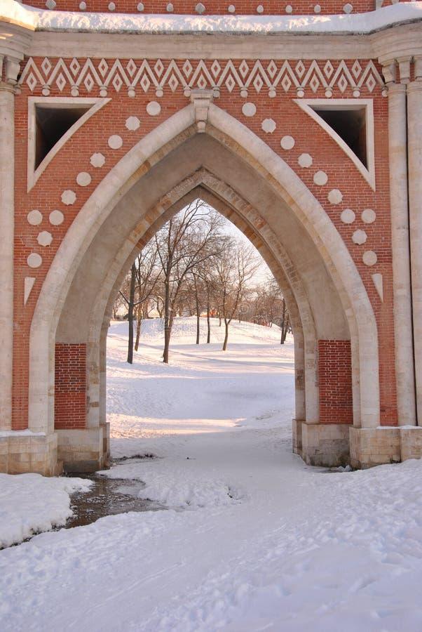 Download Brick Bridge Across The Ravine In Tsaritsyno Stock Image - Image: 21428213