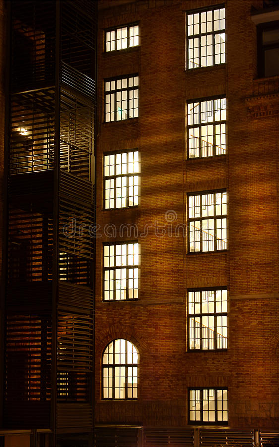 Download Brick building's windows stock image. Image of house - 22663115