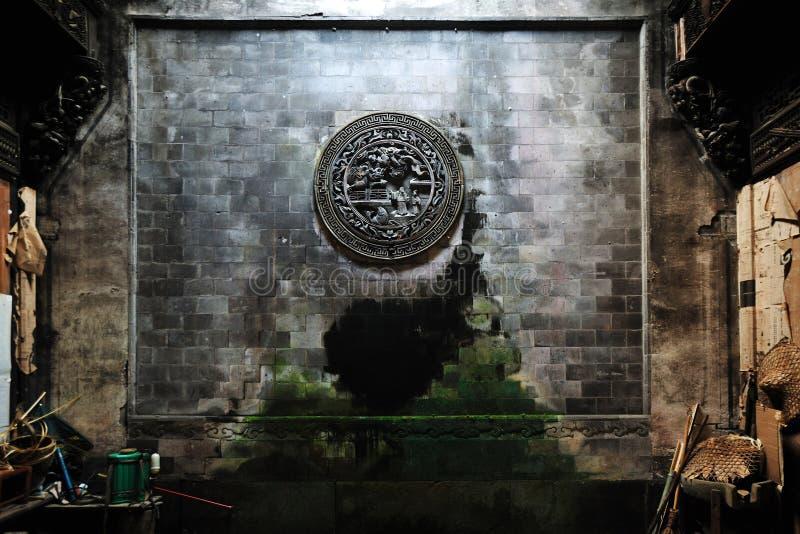 Download Brick Carving On Wall, Wuyuan Stock Image - Image: 7598935