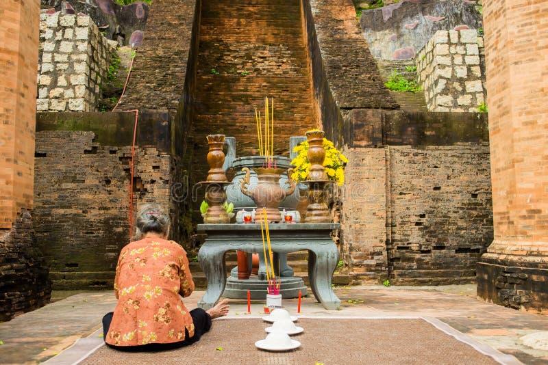 Brick cham towers Ponagar in Nha Trang, Vietnam royalty free stock photo