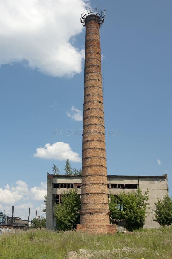 Brick chimney stock photography