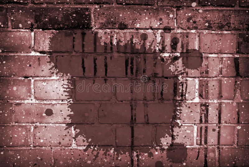 Brick Collage. A vintage texture on a brick background stock images