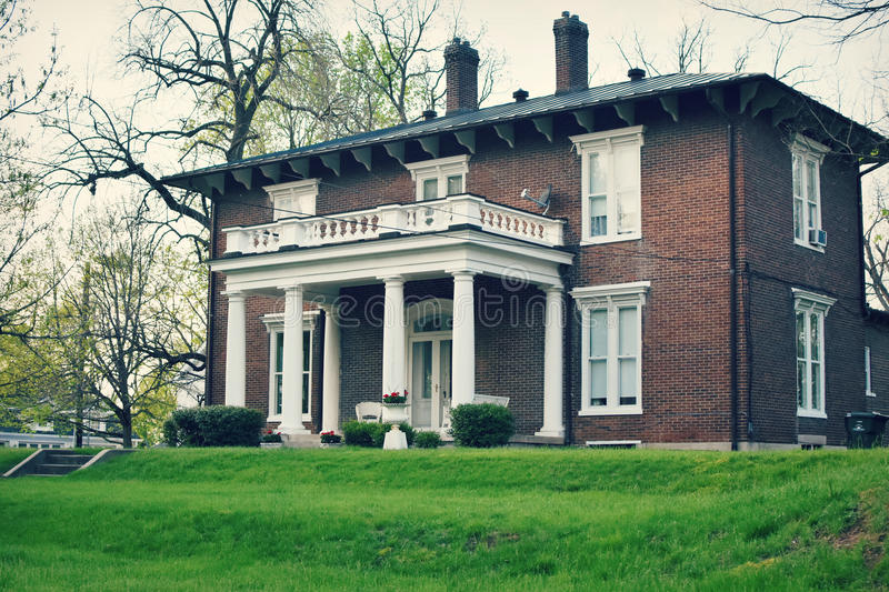 Download Brick Colonial House Stock Image Of Style Beautiful