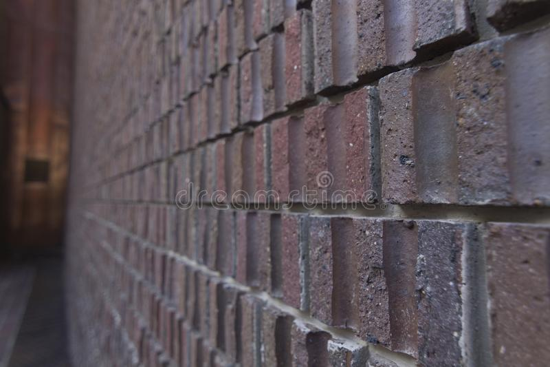 Brick cut in half texture stock images