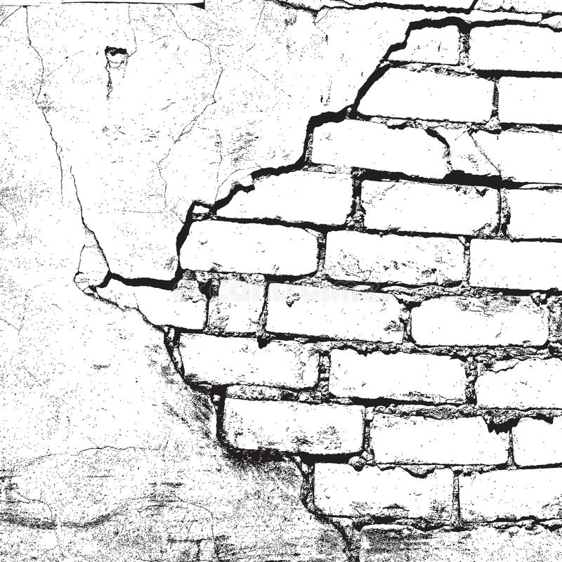 Brick Damaged Texture royalty free illustration
