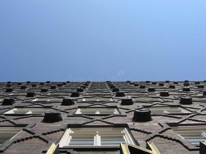 Download Brick Facade stock photo. Image of skies, glass, building - 20770