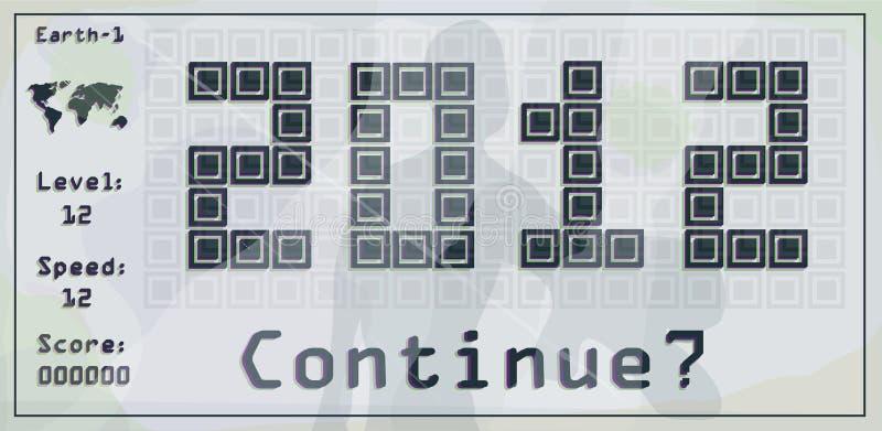 Brick game vector illustration