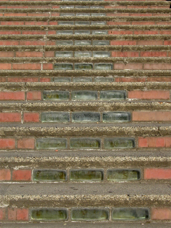 Download Brick and Glass Stairs stock photo. Image of decorative - 10640